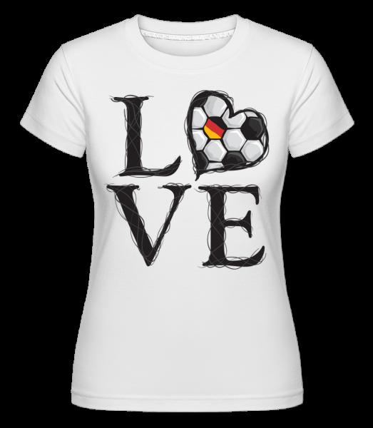 Football Love Germany -  Shirtinator tričko pre dámy - Biela - Predné