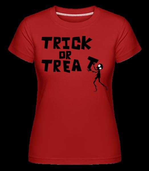 Trick or Treat -  Shirtinator tričko pre dámy - Červená - Predné