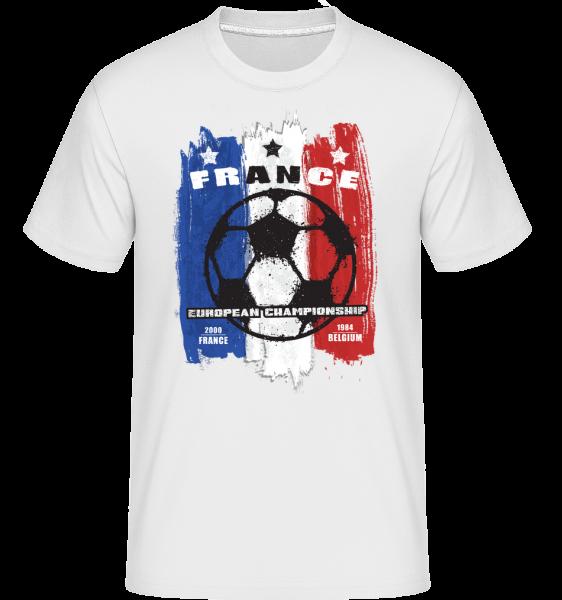 Football France -  Shirtinator tričko pre pánov - Biela - Predné