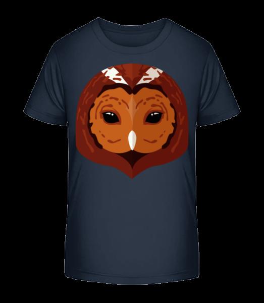 Owl Comic Shadow - Detské Premium Bio tričko - Namornícka modrá - Predné