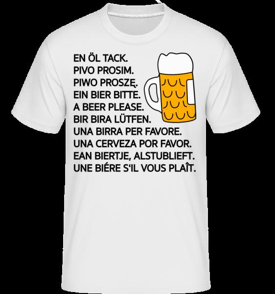 pivo prosím - Shirtinator tričko pre pánov - Biela - Predné