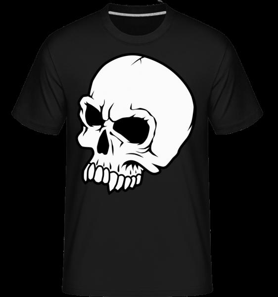 mŕtvy Skull -  Shirtinator tričko pre pánov - Čierna1 - Predné