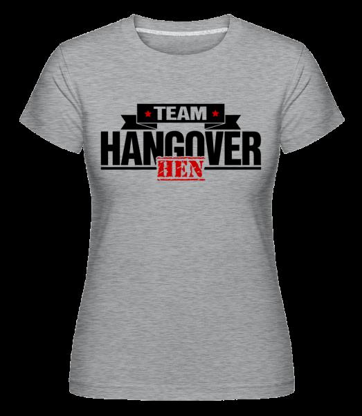 tím Hangover - Shirtinator tričko pre dámy - Melírovo šedá - Predné