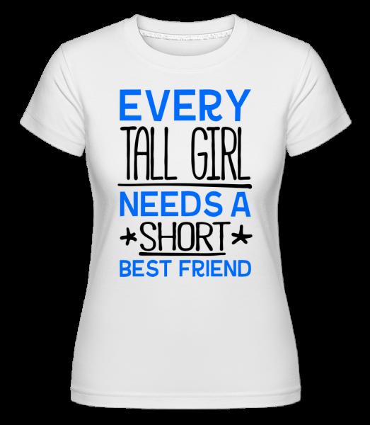 Krátky Best Friend -  Shirtinator tričko pre dámy - Biela - Predné