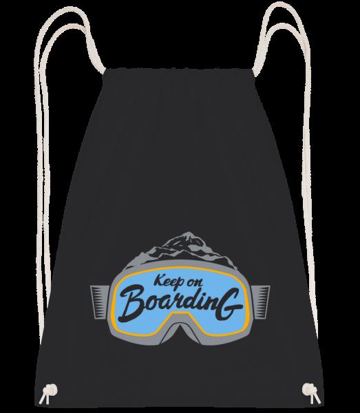 Keep On Boarding - Drawstring batoh so šnúrkami - Čierna1 - Predné