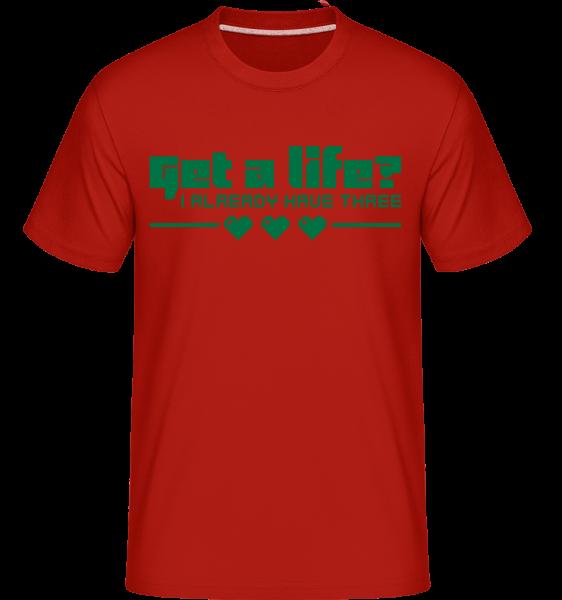Get A Life? -  Shirtinator tričko pre pánov - Červená - Predné