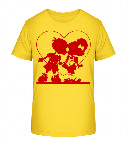 Deti In Love - Detské Premium Bio tričko - Žltá - Predné