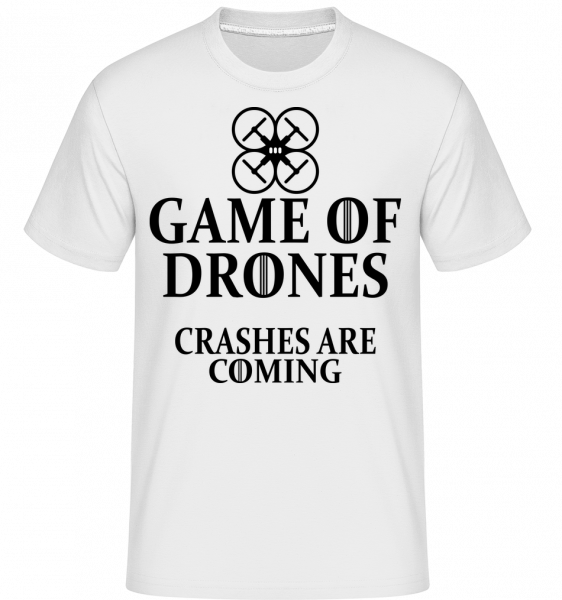 Game Of Drones -  Shirtinator tričko pre pánov - Biela - Predné
