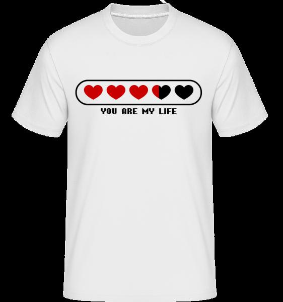 Vy ste môj život Srdce -  Shirtinator tričko pre pánov - Biela - Predné