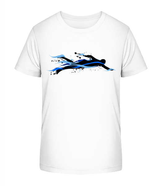 plavec - Detské Premium Bio tričko - Biela - Predné