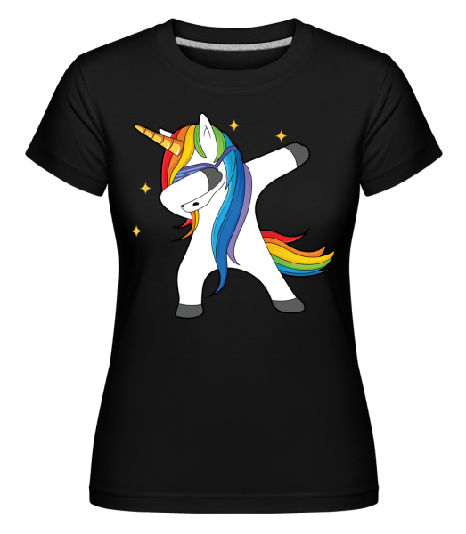 party Einhorn -  Shirtinator tričko pre dámy - Čierna1 - Predné