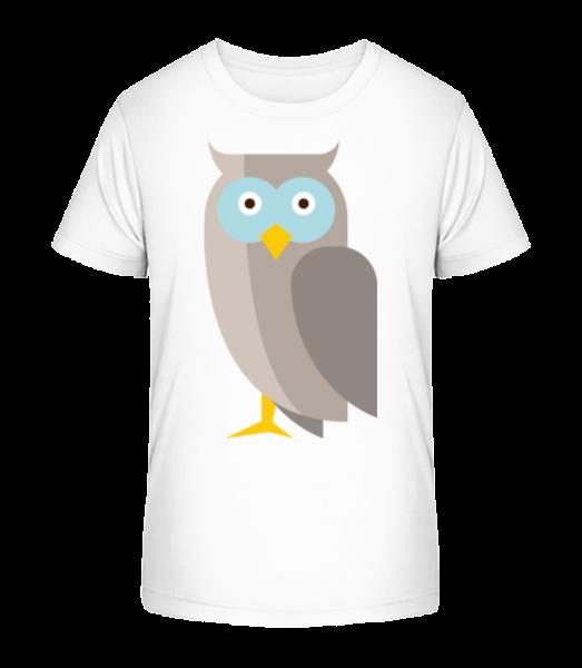 Owl Comic - Detské Premium Bio tričko - Biela - Predné