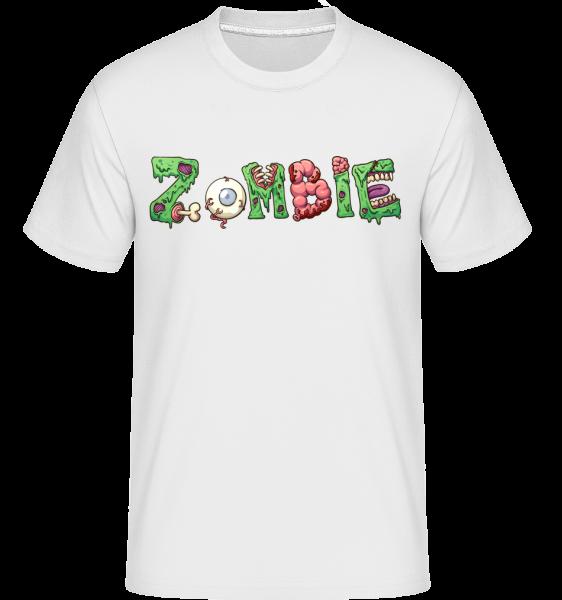 Zombie Font -  Shirtinator tričko pre pánov - Biela - Predné