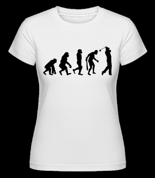 Evolution Of Golf -  Shirtinator tričko pre dámy - Biela - Predné