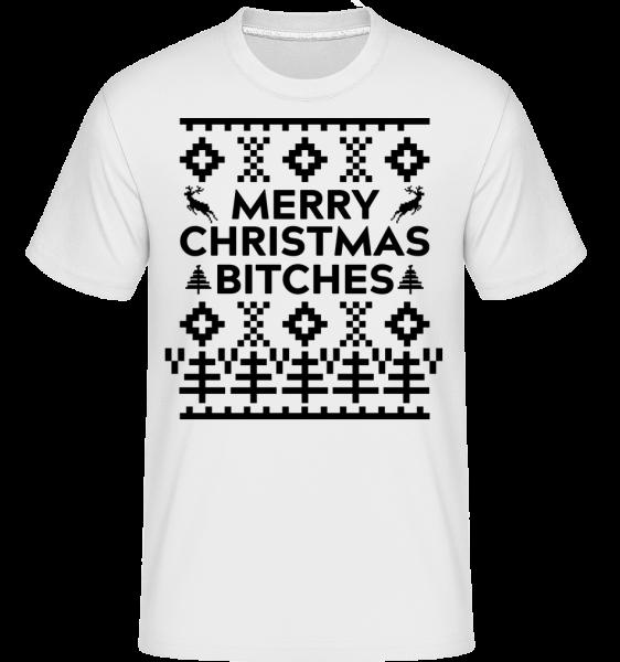 Merry Christmas Bitches - Shirtinator tričko pre pánov - Biela - Predné