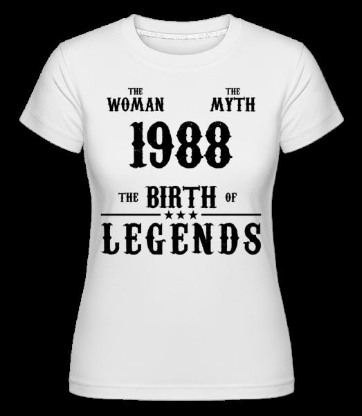 Mýtus Žena 1988 - Shirtinator tričko pre dámy - Biela - Predné