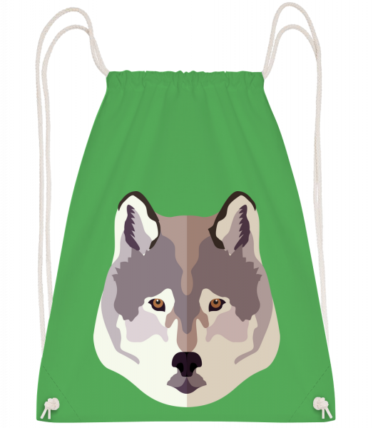 Wolf Comic Shadow - Drawstring batoh so šnúrkami - Irish green - Predné