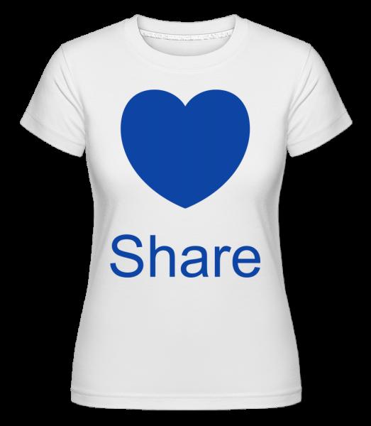 Share Heart - Shirtinator tričko pre dámy - Biela - Predné