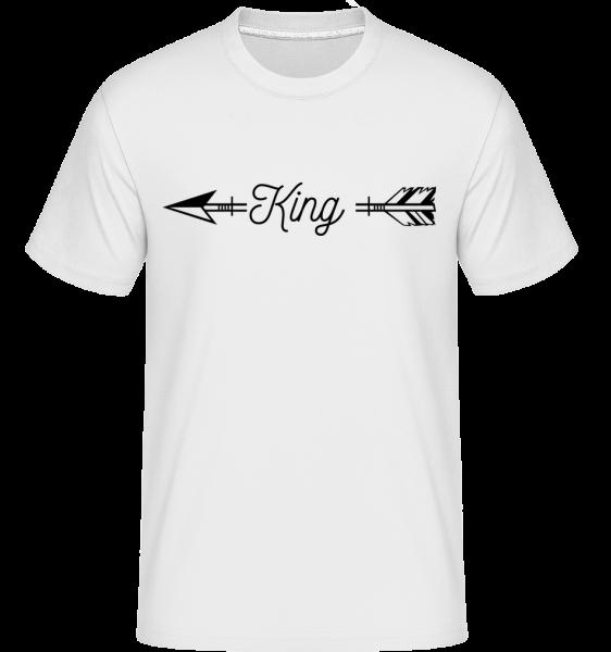 arrow kráľ - Shirtinator tričko pre pánov - Biela - Predné
