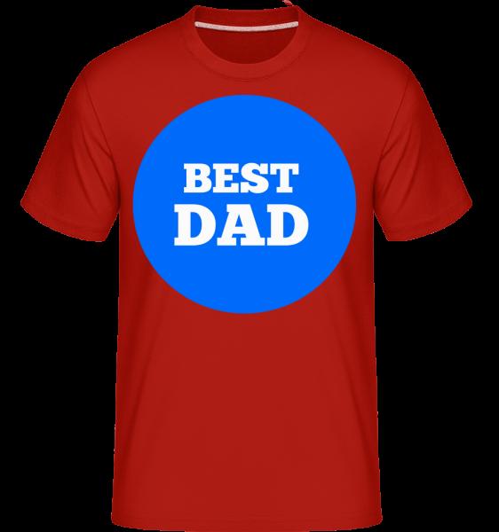 najlepší otec -  Shirtinator tričko pre pánov - Červená - Predné