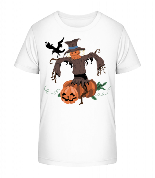 tekvicové Strašiak - Detské Premium Bio tričko - Biela - Predné