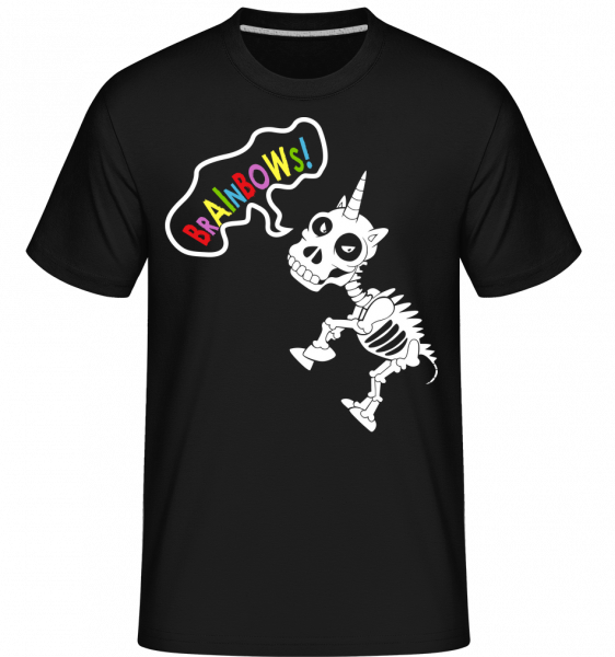 Mŕtve Unicorn Rainbows -  Shirtinator tričko pre pánov - Čierna - Predné