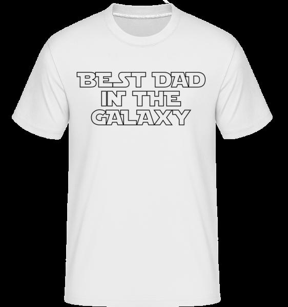 Najlepší otec In The Galaxy -  Shirtinator tričko pre pánov - Biela - Predné