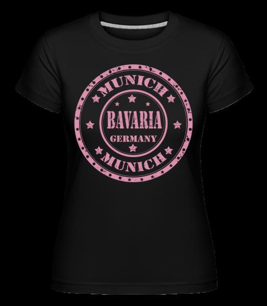 Mníchov Bavorsko - Shirtinator tričko pre dámy - Čierna - Predné