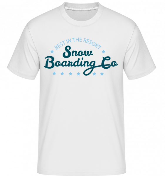 Snowboarding Co. Sign -  Shirtinator tričko pre pánov - Biela - Predné