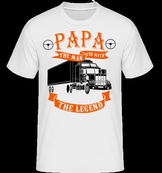 Papa The Legend - Shirtinator tričko pre pánov - Biela - Predné