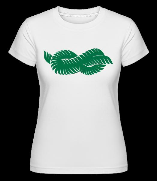 Plant Icon Green - Shirtinator tričko pre dámy - Biela - Predné