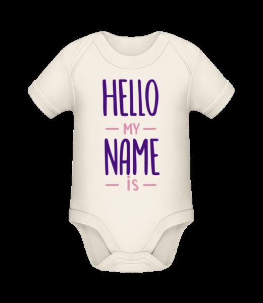 Hello My Name Is - Bio body pre deti - Krémová - Predné