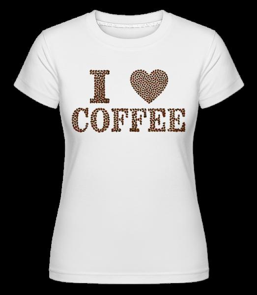 I Love Coffee - Shirtinator tričko pre dámy - Biela - Predné