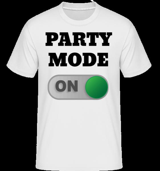 Party Mode On -  Shirtinator tričko pre pánov - Biela - Predné