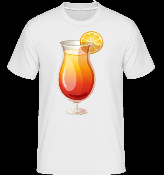 Cocktail Sex On The Beach -  Shirtinator tričko pre pánov - Biela - Predné