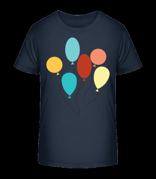mnoho Balloons - Detské Premium Bio tričko - Namornícka modrá - Predné