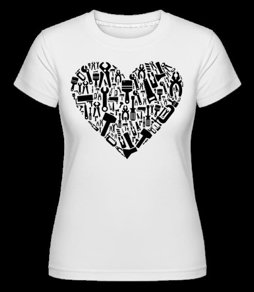 Láska DIY Heart -  Shirtinator tričko pre dámy - Biela - Predné