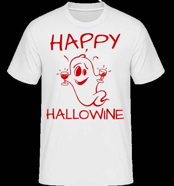 Halloween Duch -  Shirtinator tričko pre pánov - Biela - Predné