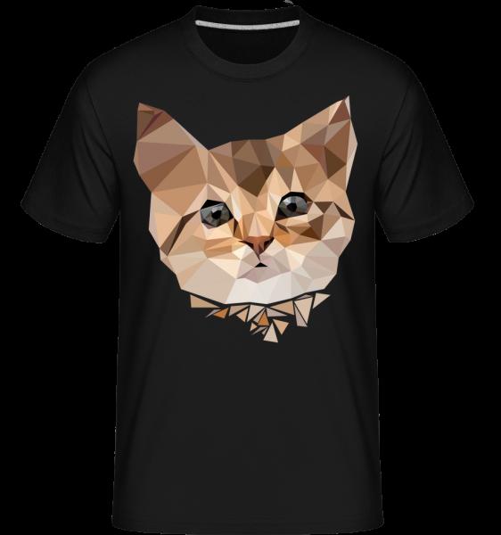 Polygon Cat -  Shirtinator tričko pre pánov - čierna - Predné