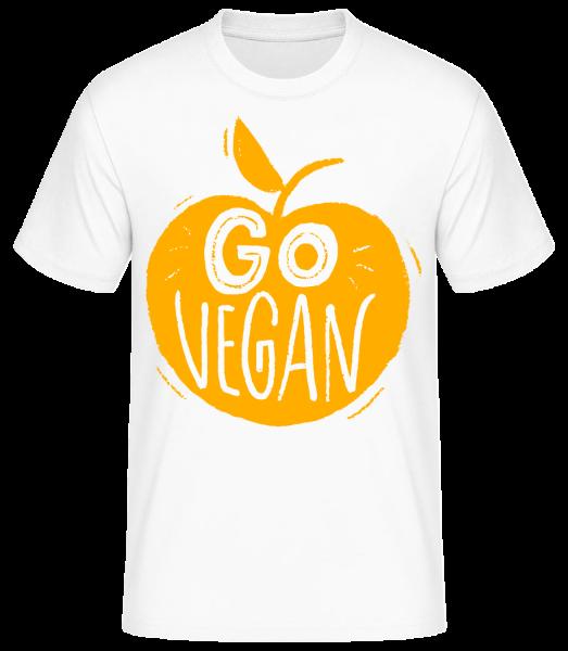 Go Vegan - Basic T-Shirt - Bílá - Predné