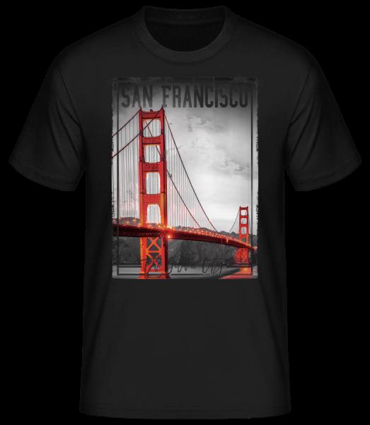 San Francisco Golden City - Pánske basic tričko - Čierna - Predné