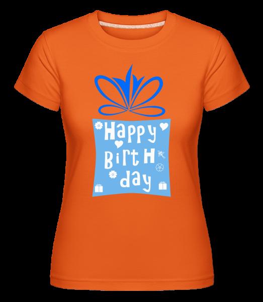 Happy Birthday Logo -  Shirtinator tričko pre dámy - Oranžová - Predné