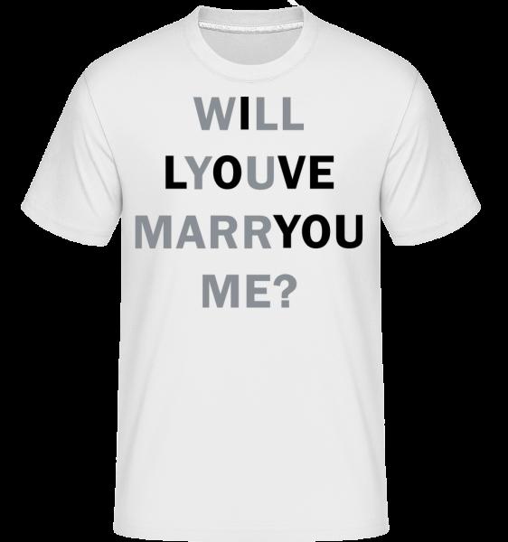 Vezmeš si ma Milujem ťa -  Shirtinator tričko pre pánov - Biela - Predné