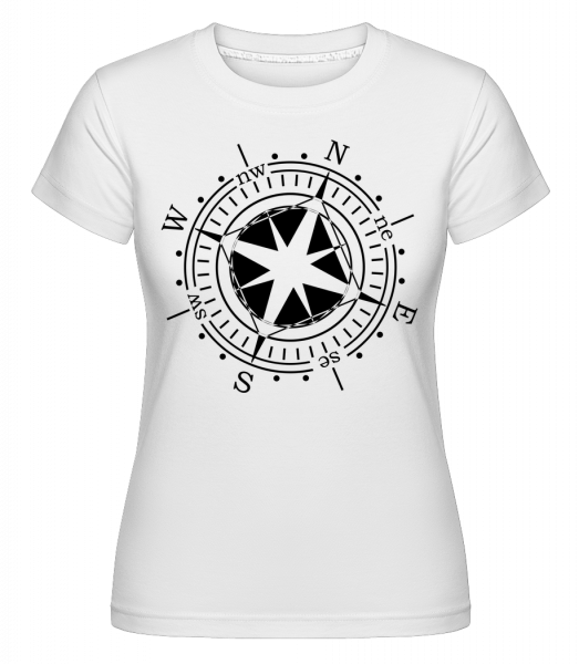 Compass -  Shirtinator tričko pre dámy - Biela - Predné