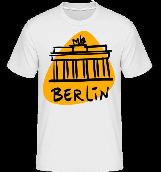Berlin Sign -  Shirtinator tričko pre pánov - Biela - Predné