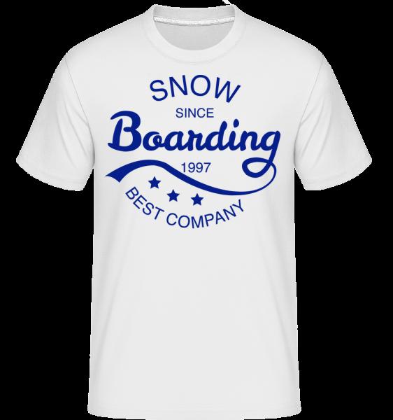 Snowboarding od roku 1997 Logo -  Shirtinator tričko pre pánov - Biela - Predné