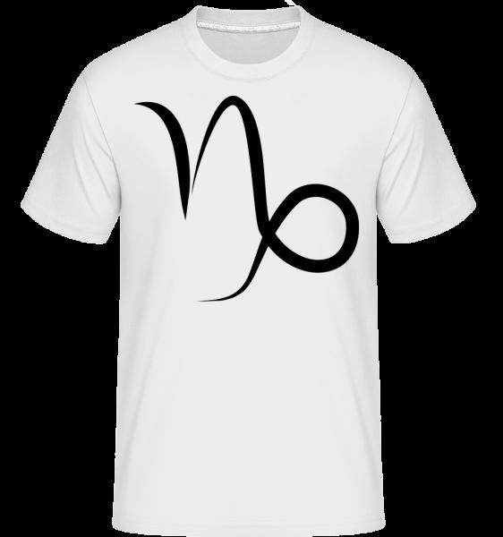 Kozorožec znamenia -  Shirtinator tričko pre pánov - Biela - Predné