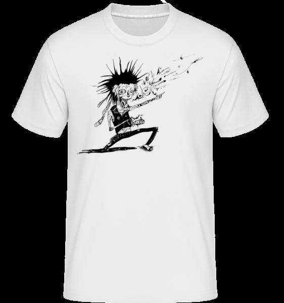 Zombie Musician -  Shirtinator tričko pre pánov - Biela - Predné