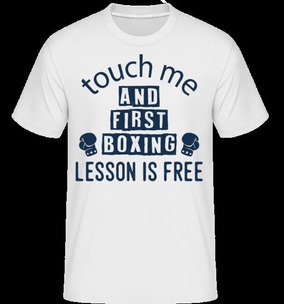 Free Boxing Lessons - Shirtinator tričko pre pánov - Biela - Predné