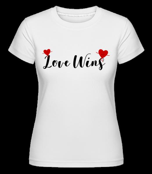 láska Víťazstvo - Shirtinator tričko pre dámy - Biela - Predné